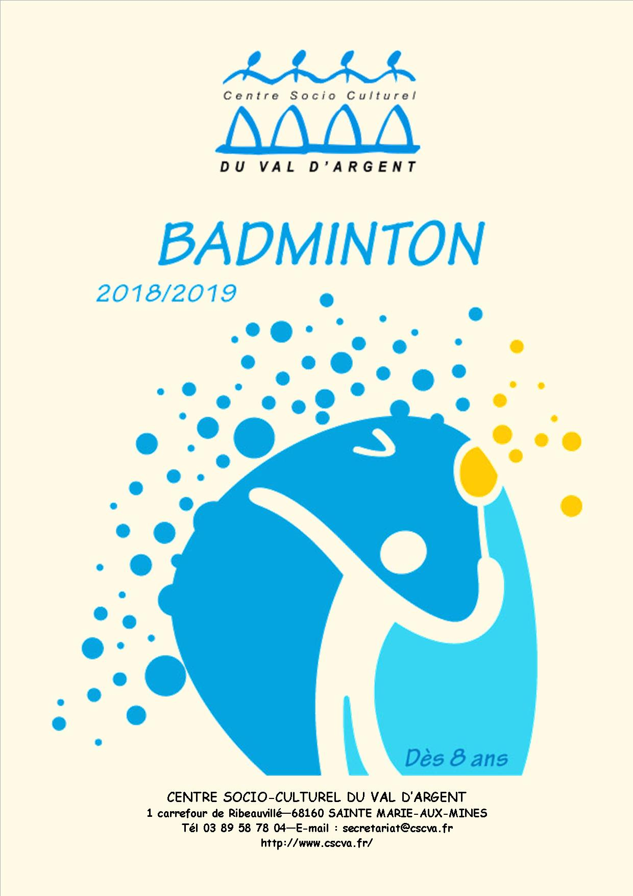 INSCRIPTION BADMINTON 2018 2019