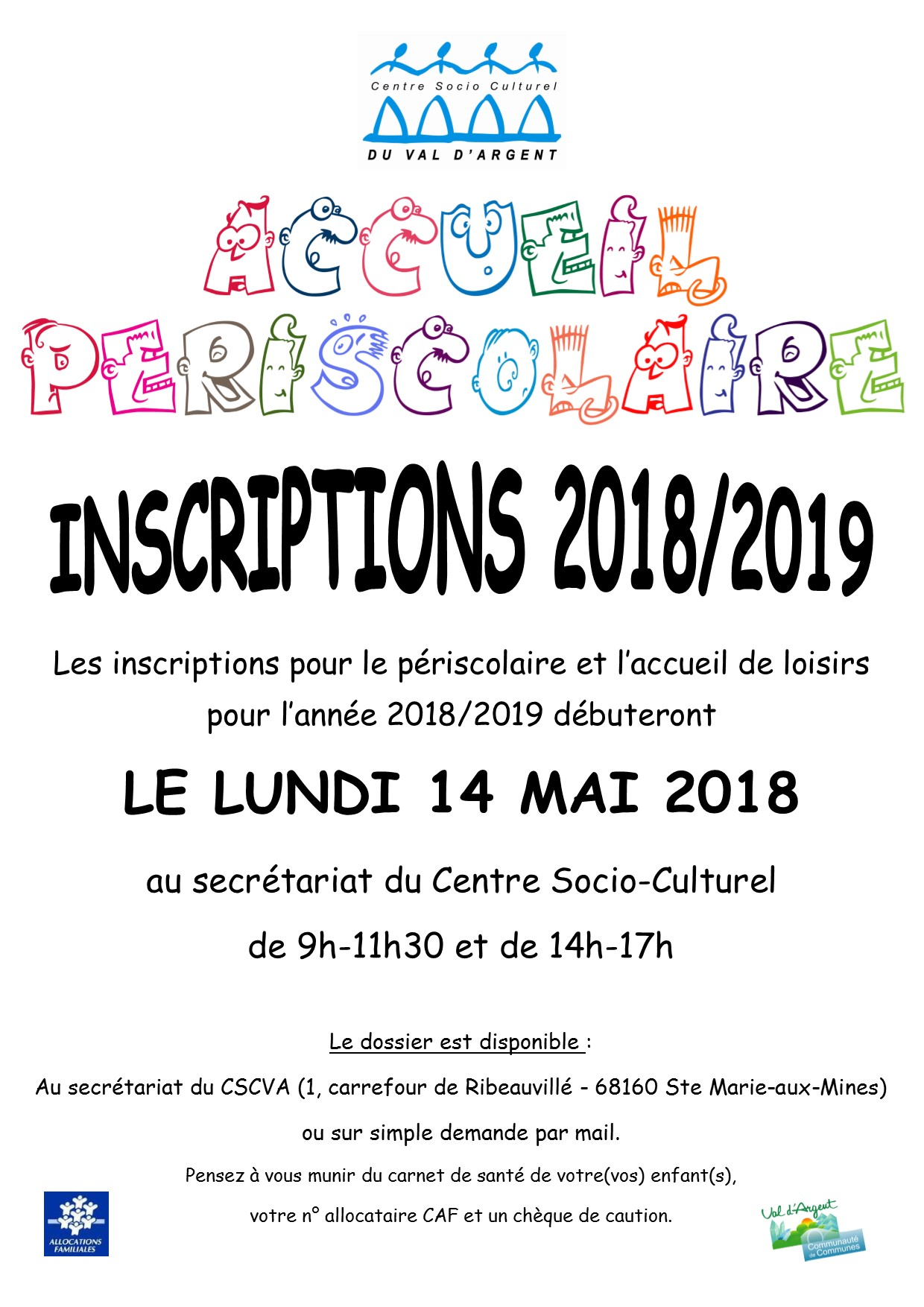 Affiche inscription 2018 2019