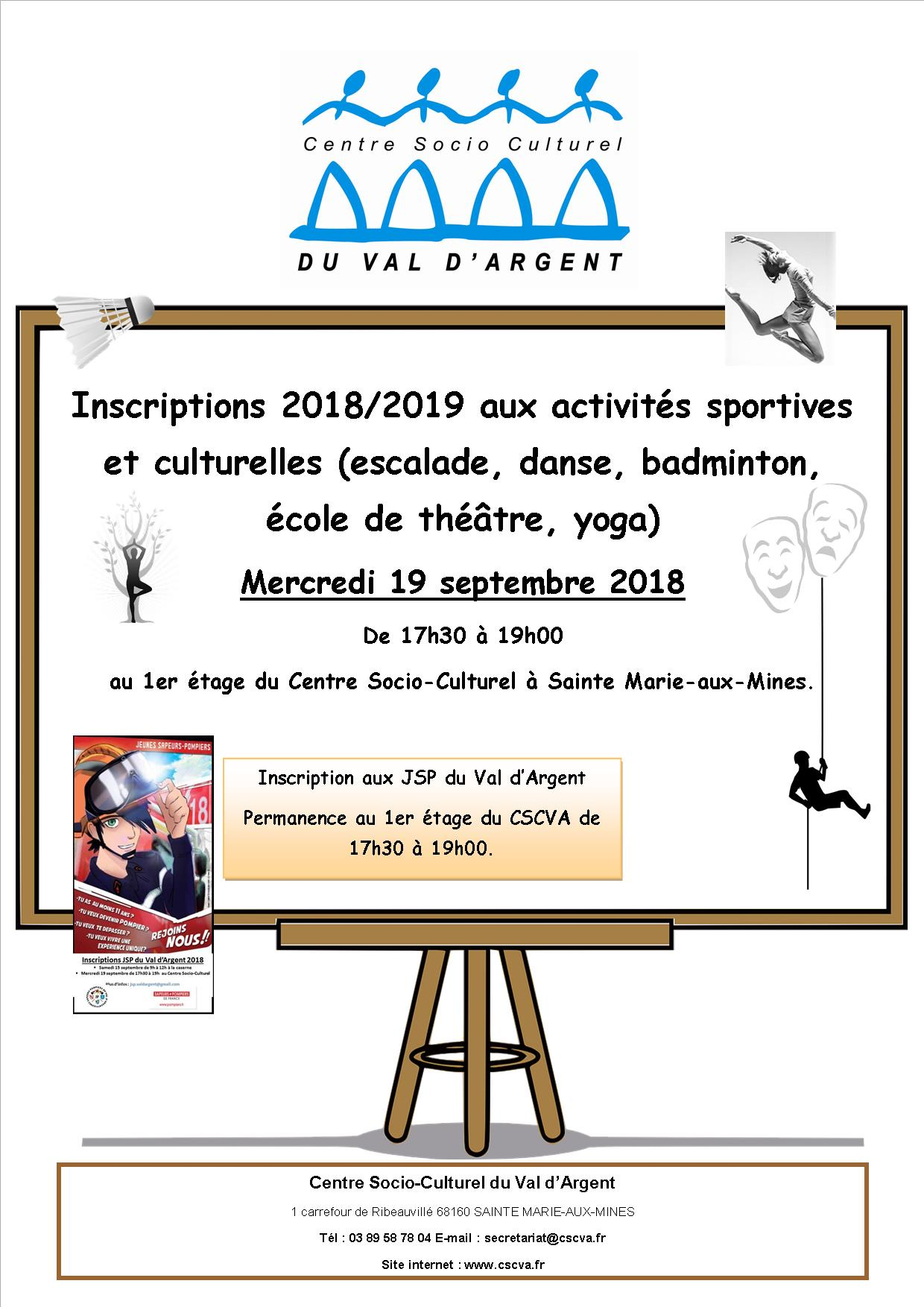 Inscriptions 2018 2019
